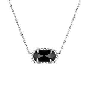 Kendra Scott silver/black Ember necklace